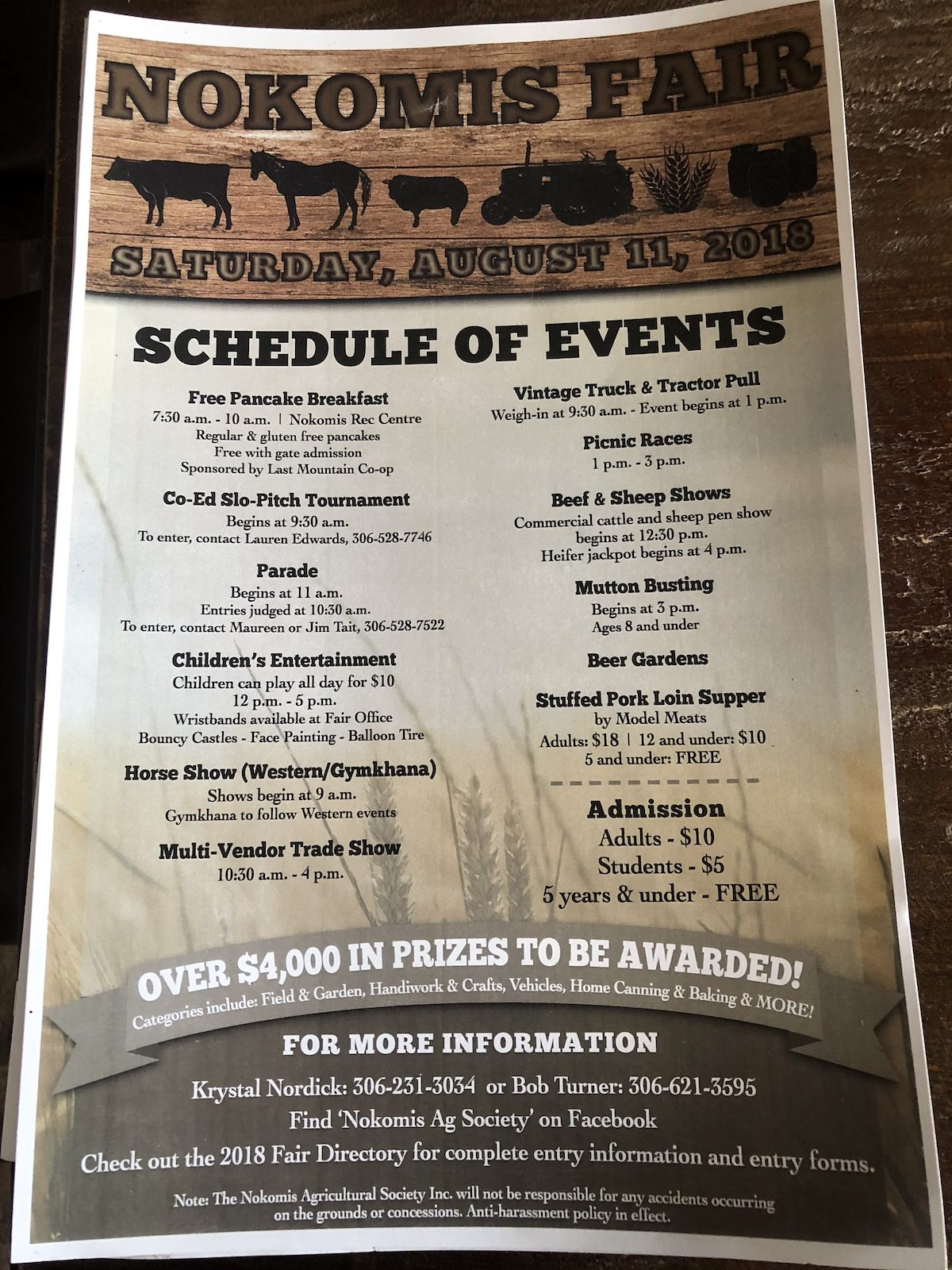 Fair Schedule | Nokomis Ag Society